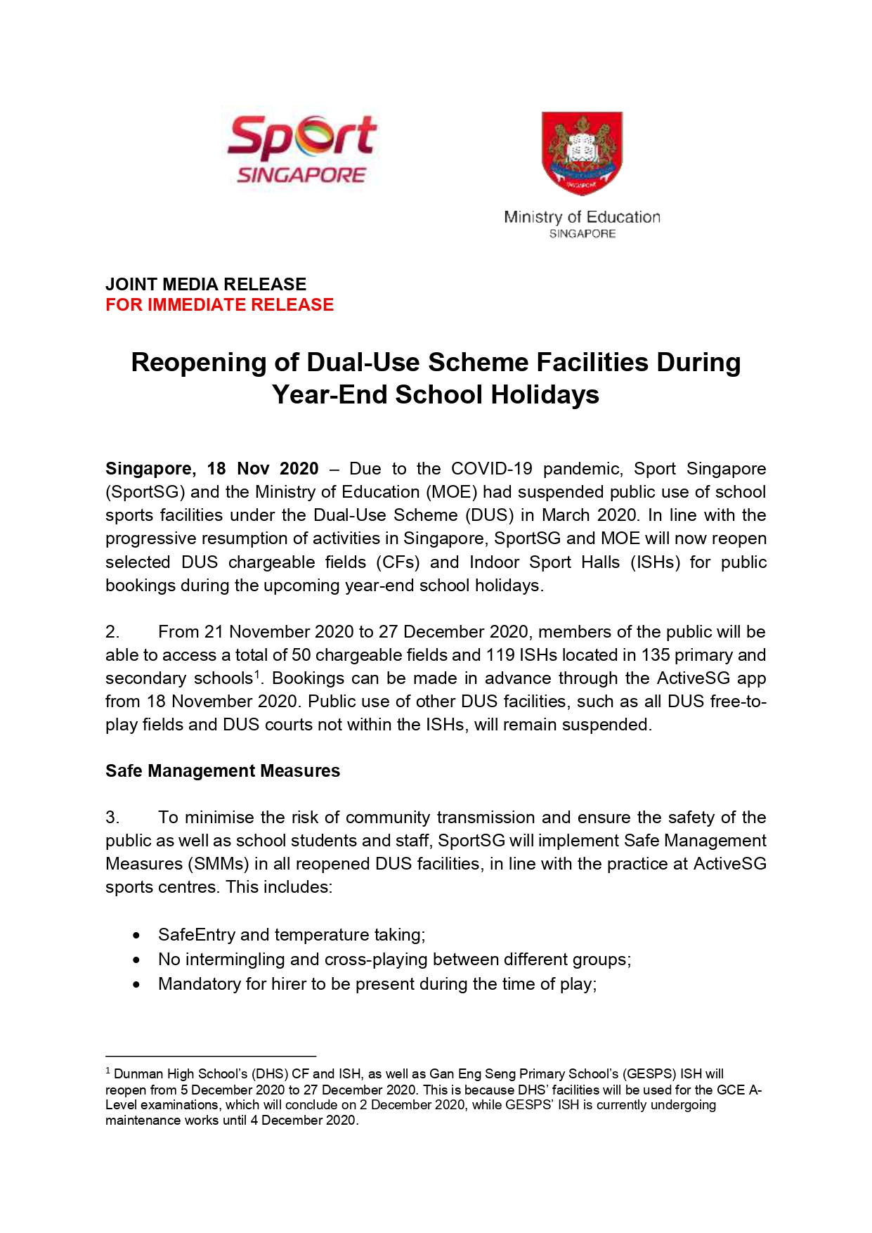 SportSG-MOE Media Release - Reopening of DUS Facilities copy_page-0001