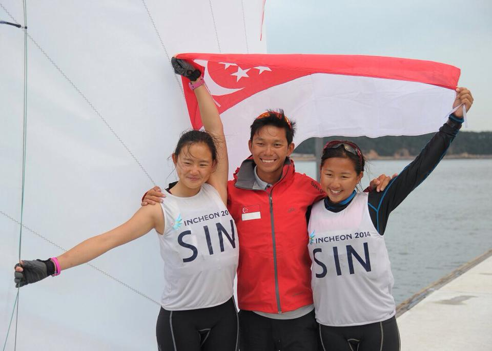 Coach Jackson Ho with his sailors (1)