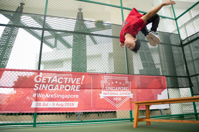 Bernard Ang from Superfly executing a somersault