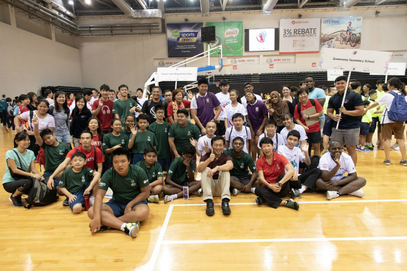 Min Ong Ye Kung with participants from Play Inclusive 2018