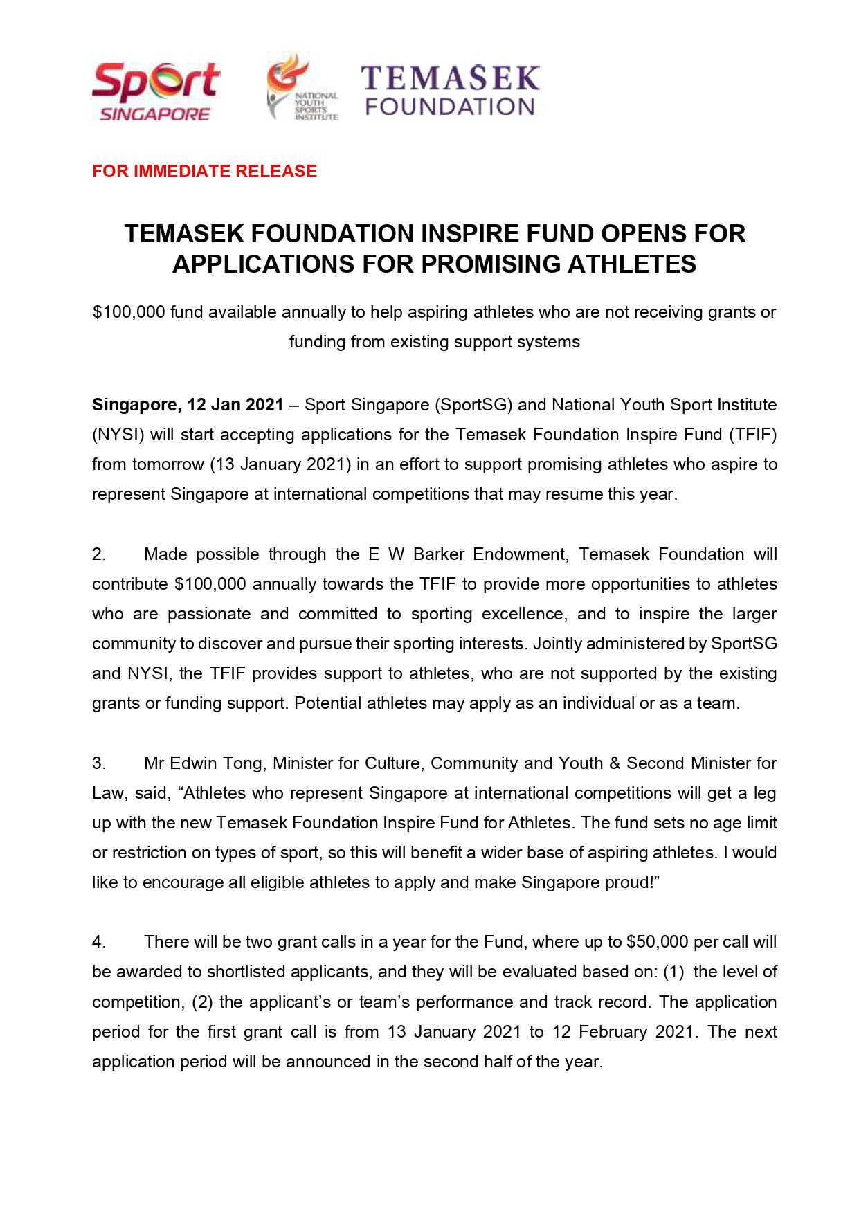 Temasek Foundation Inspire Fund Opens For Applications For Promising Athletes pg01